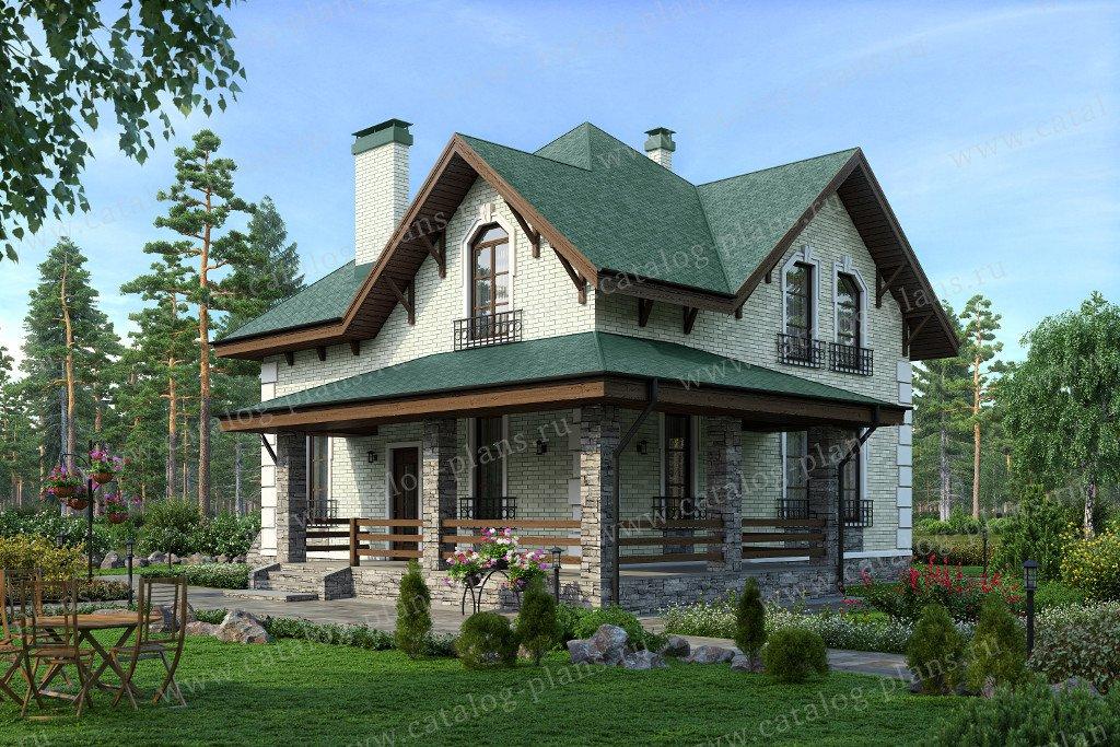 Проект жилой дом #59-13 материал - газобетон, стиль европейский