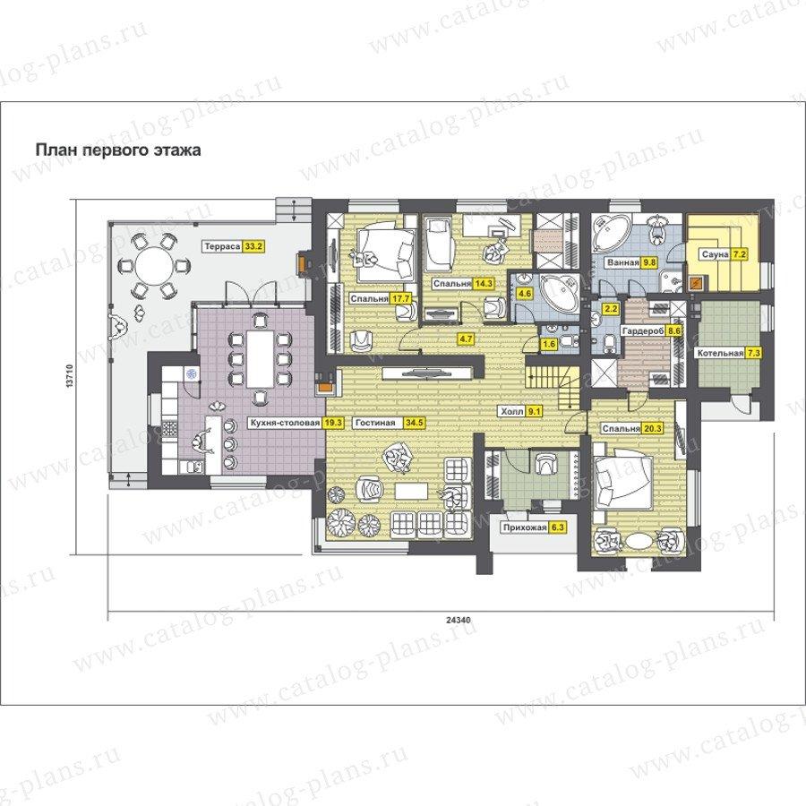План 1-этажа проекта 59-22G