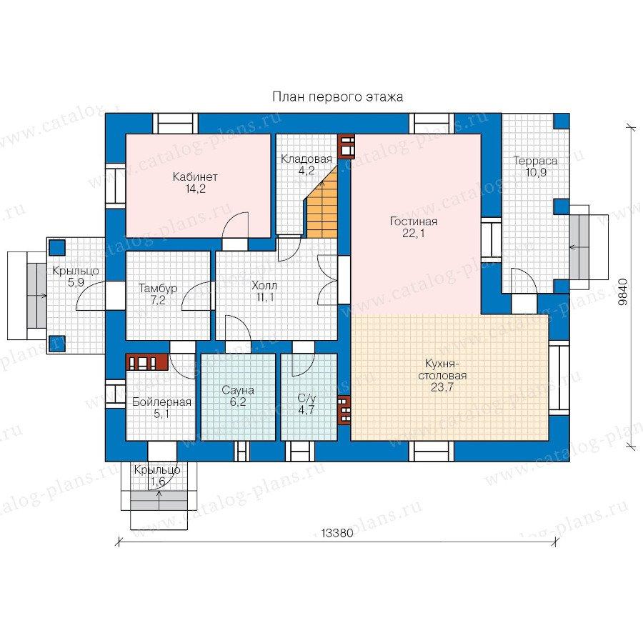 План 1-этажа проекта 57-62A