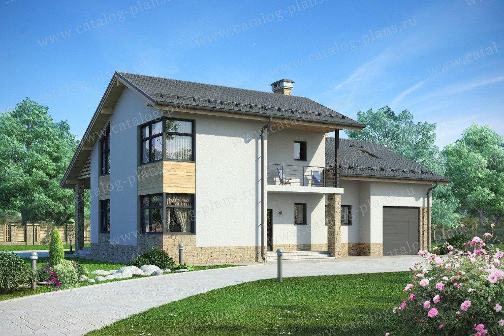Проект жилой дом #59-24AK материал - кирпич, стиль скандинавский