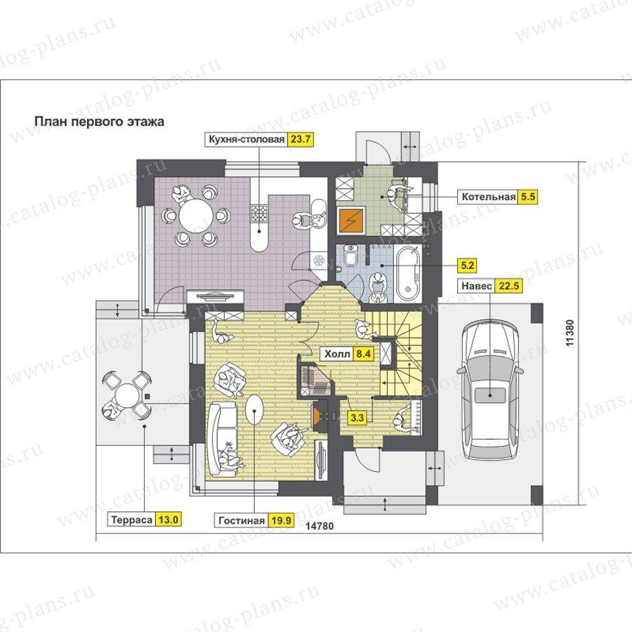 План 2-этажа проекта 59-23C