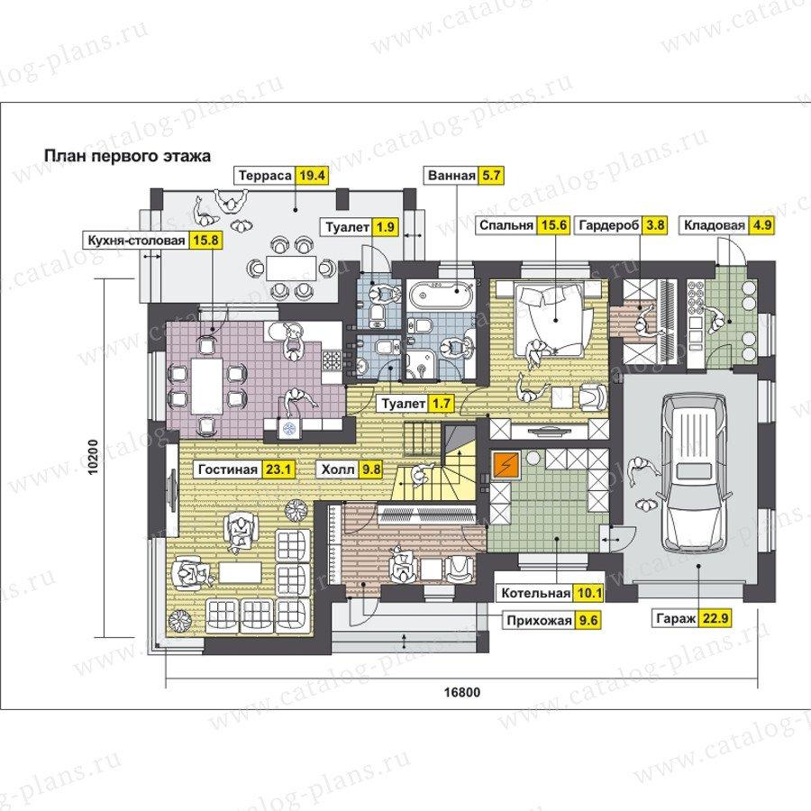 План 1-этажа проекта 59-24AK