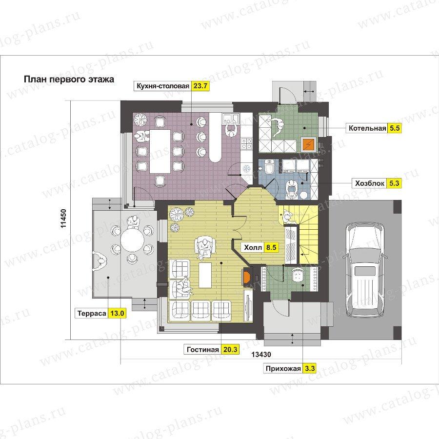 План 1-этажа проекта 59-23K