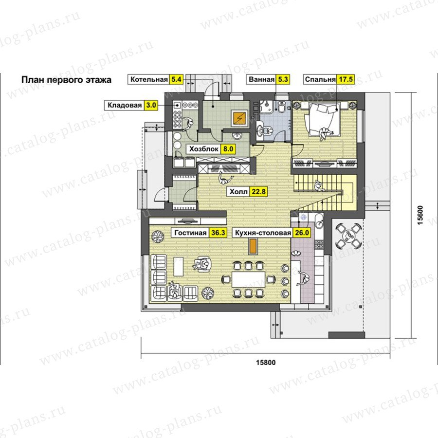 План 1-этажа проекта 59-26A