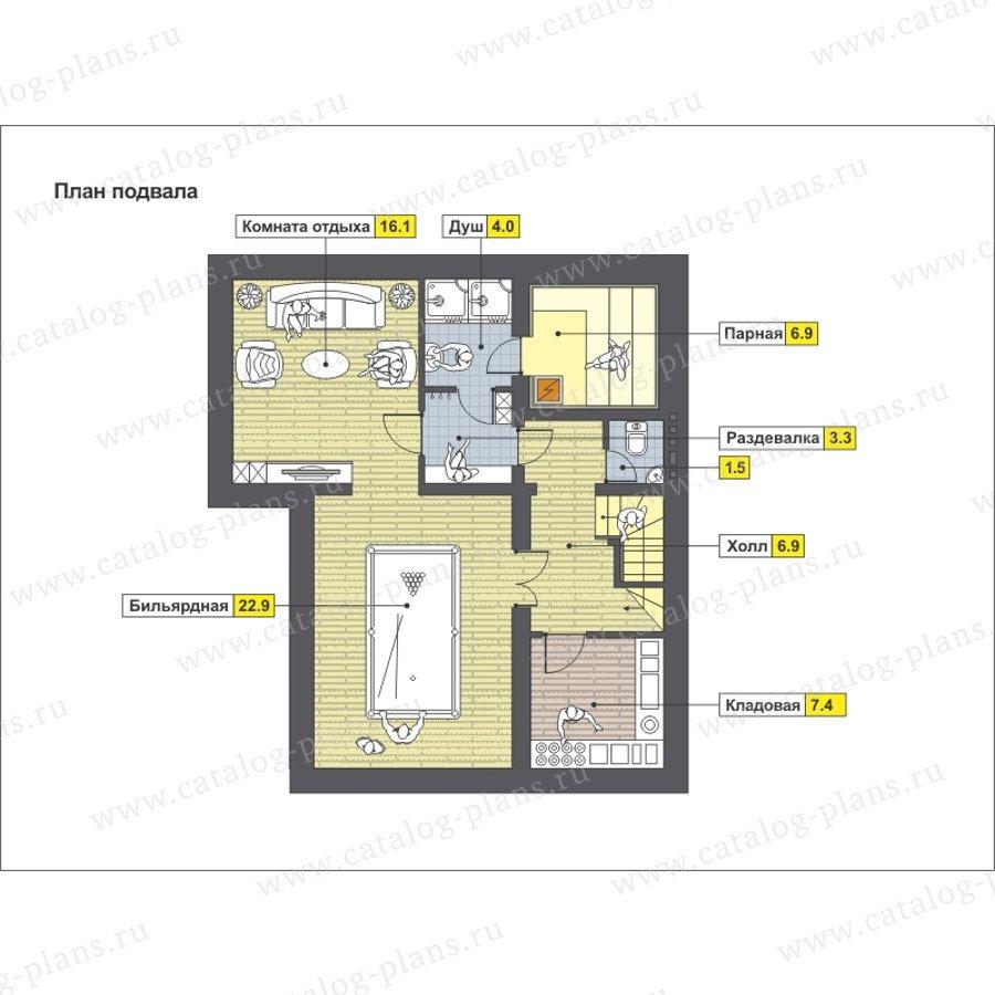 План 1-этажа проекта 59-23C