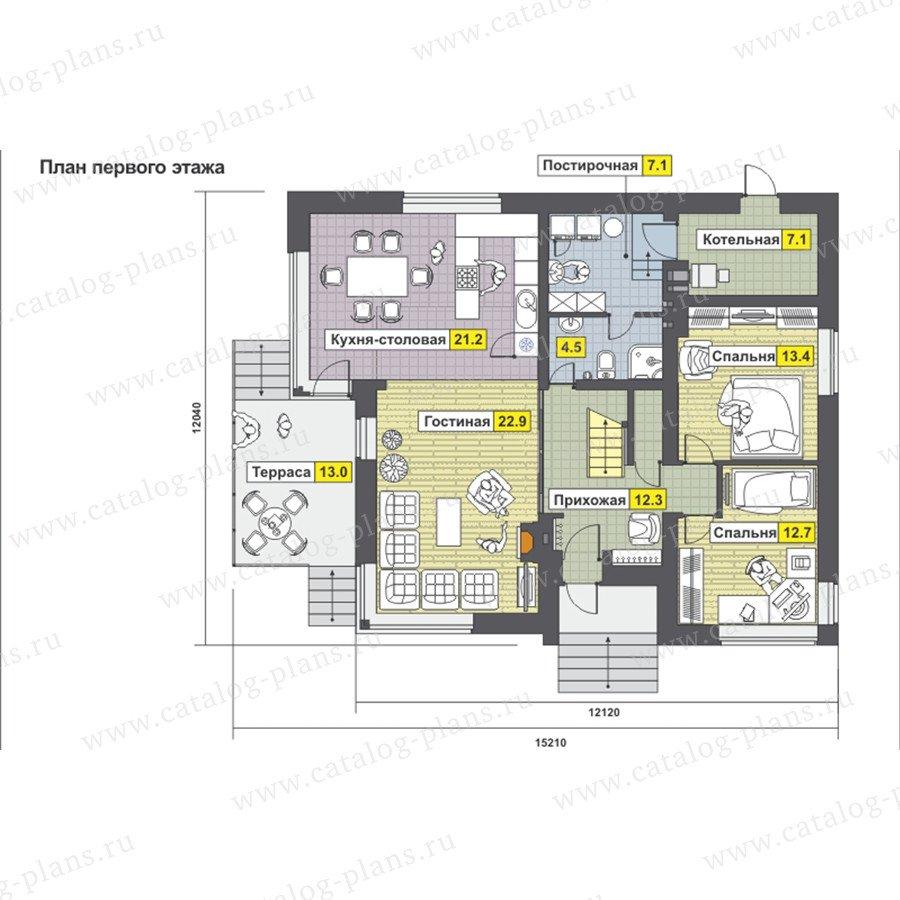 План 1-этажа проекта 59-23BK