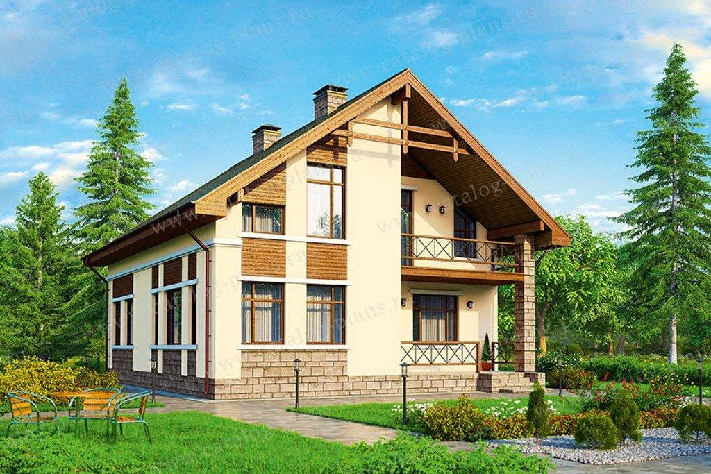 Проект жилой дом #57-35K материал - кирпич, стиль