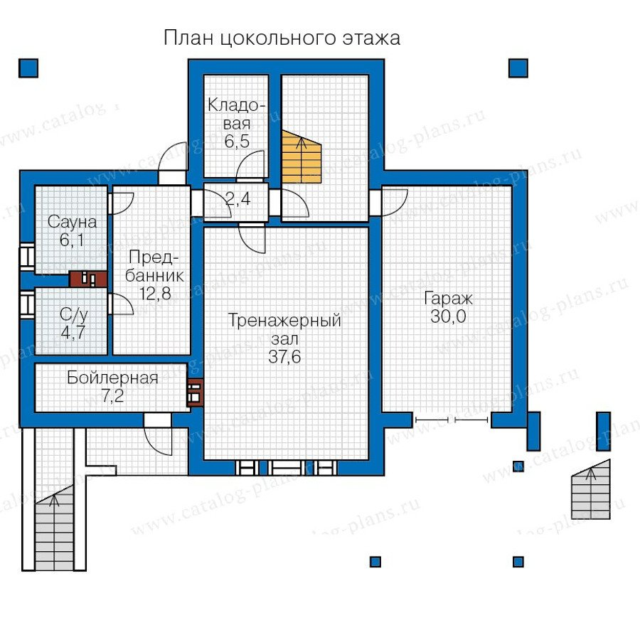 План 1-этажа проекта 57-28L