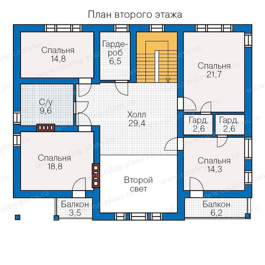 План 3-этажа проекта 57-28L