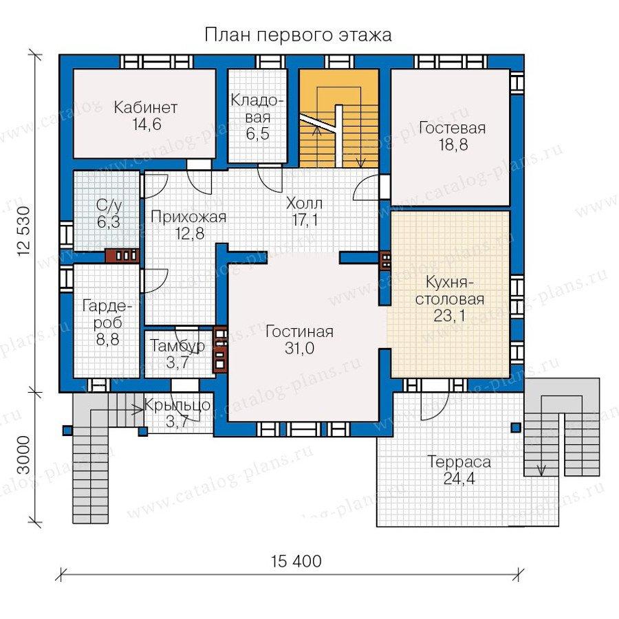 План 2-этажа проекта 57-28L