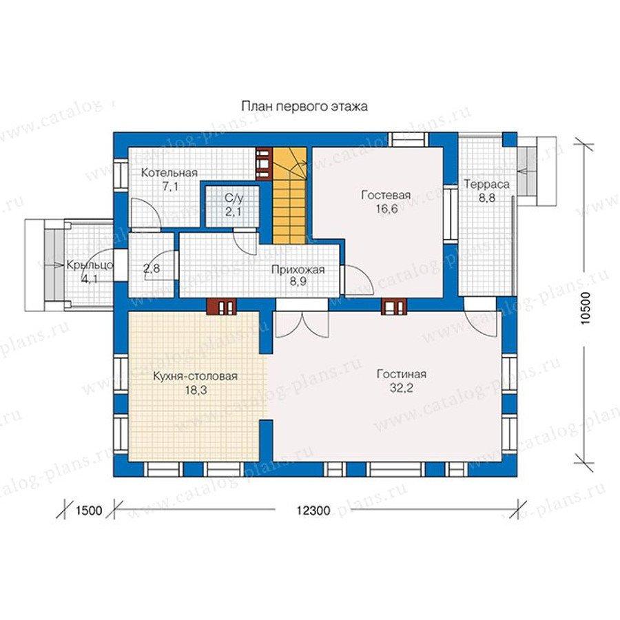 План 1-этажа проекта 57-35K