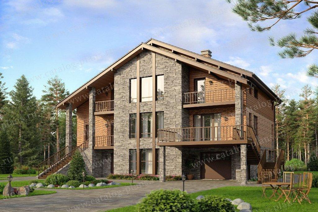 Проект жилой дом #57-28L материал - газобетон, стиль скандинавский