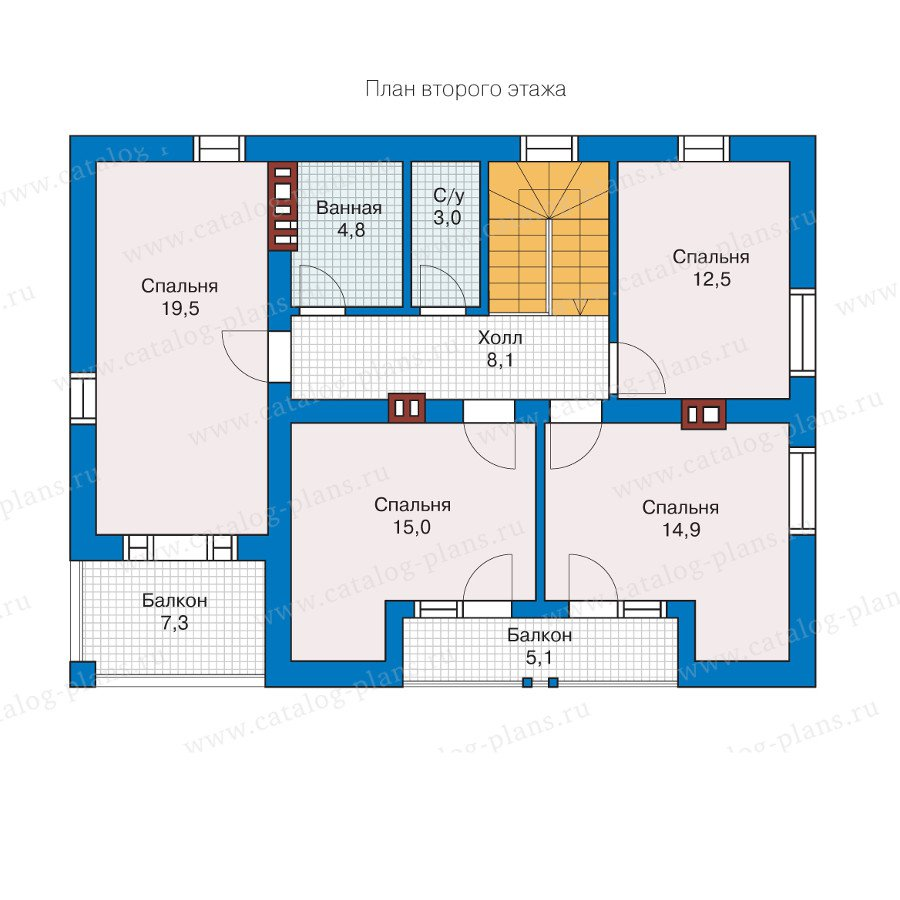 План 2-этажа проекта 57-26AK
