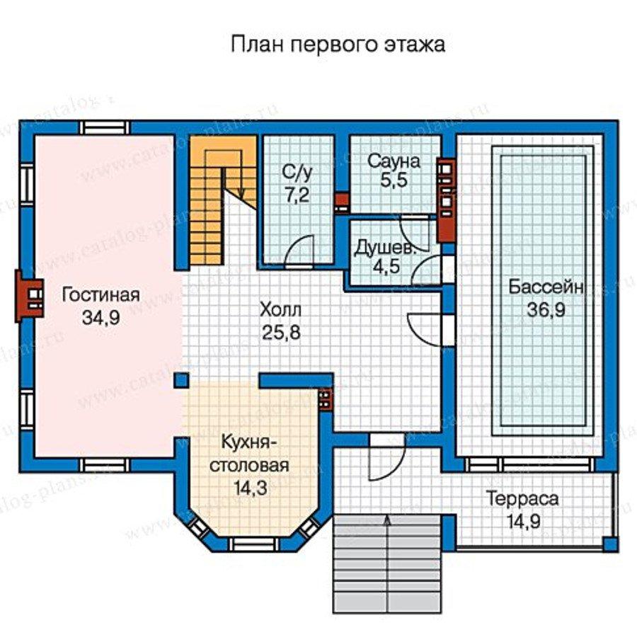 План 2-этажа проекта 57-25B