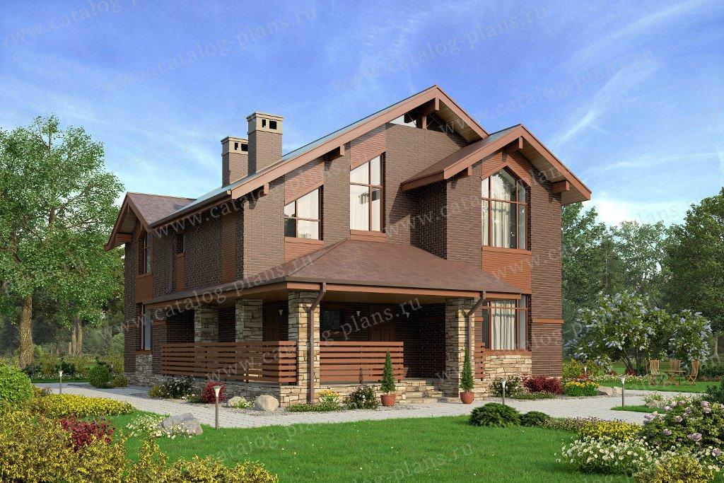 Проект жилой дом #57-42L материал - газобетон, стиль скандинавский