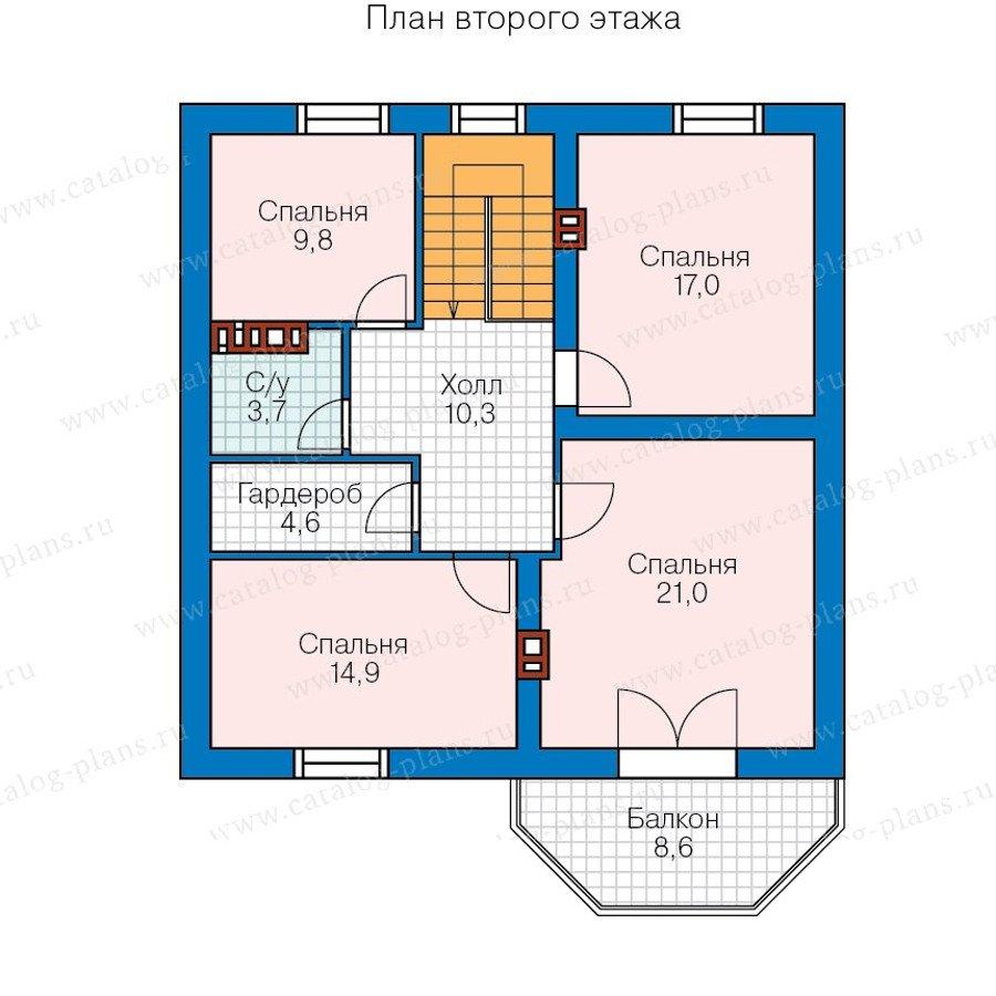 План 3-этажа проекта 57-43A