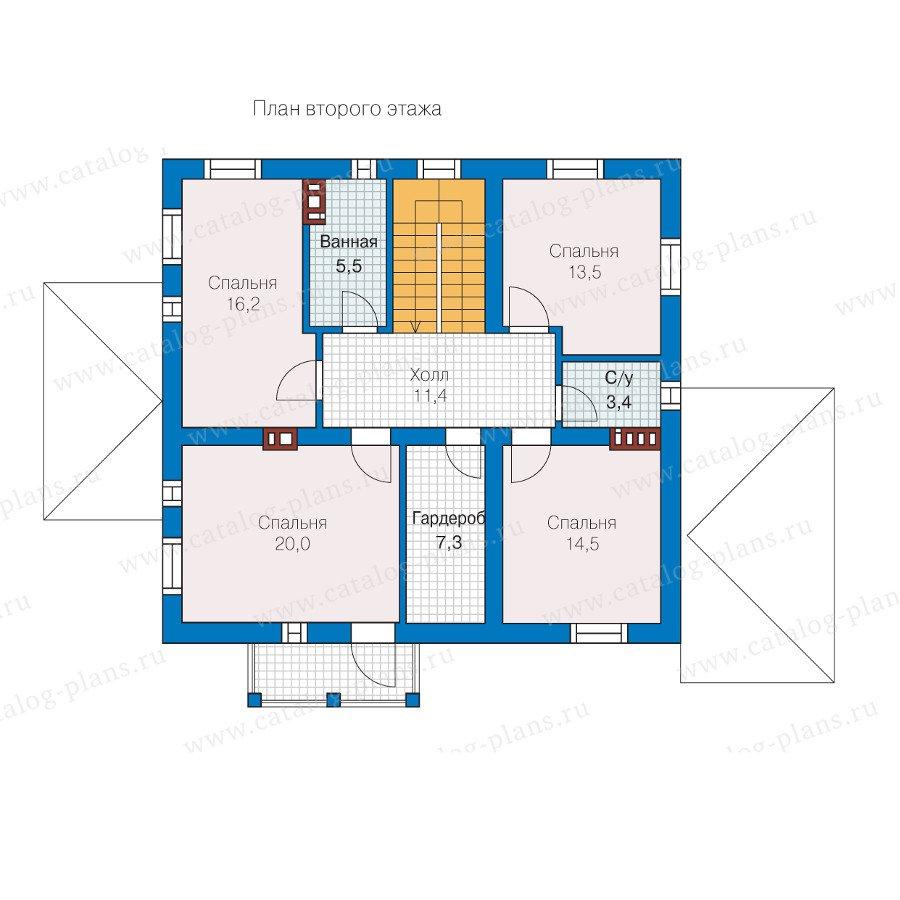 План 2-этажа проекта 57-30K