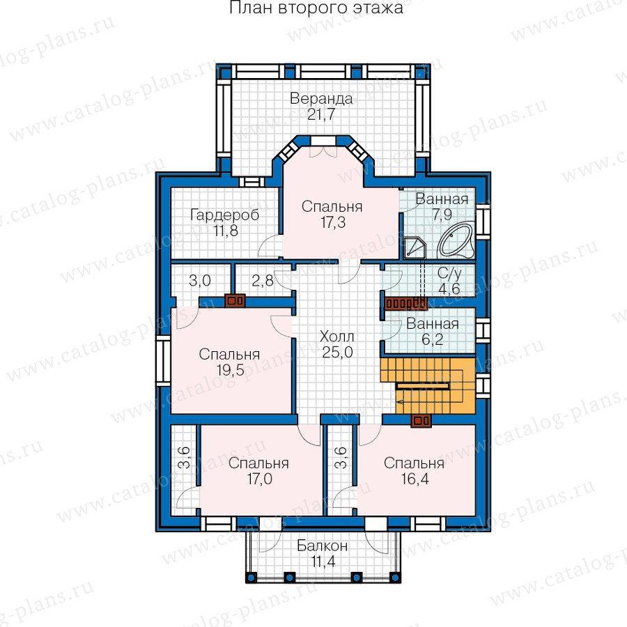 План 2-этажа проекта 57-15BK