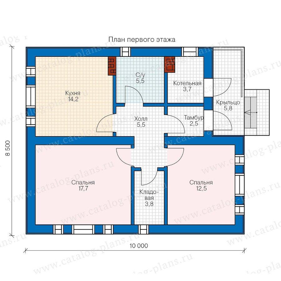 План 1-этажа проекта 57-37A