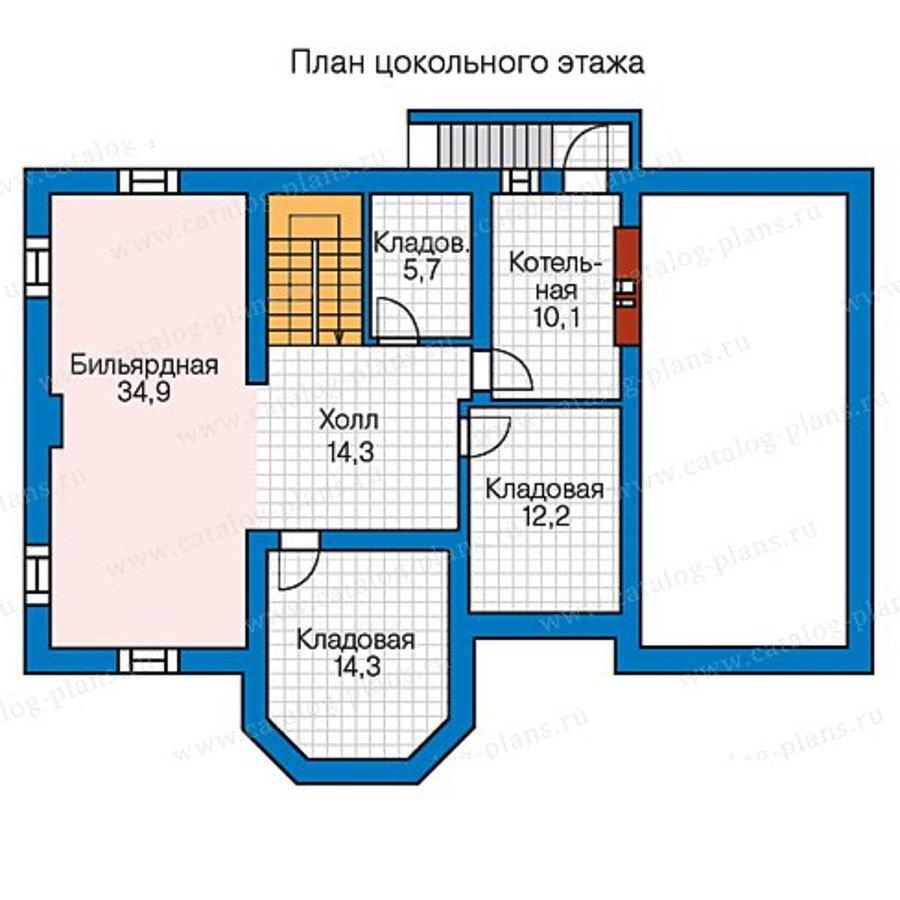 План 1-этажа проекта 57-25B