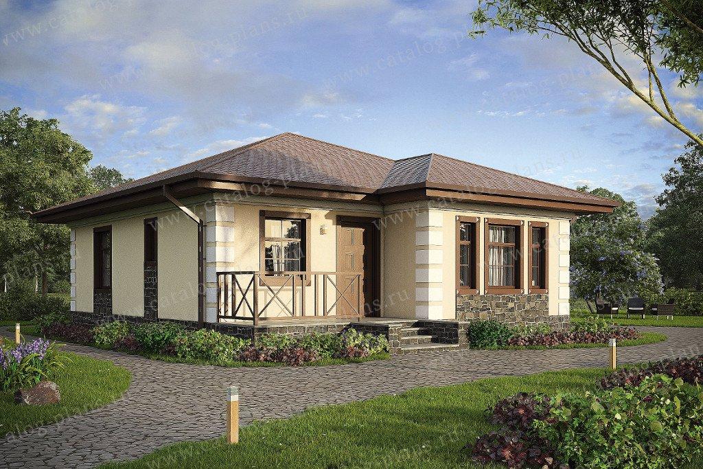Проект жилой дом #57-37A материал - газобетон, стиль классический