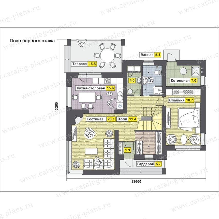План 1-этажа проекта 59-24B