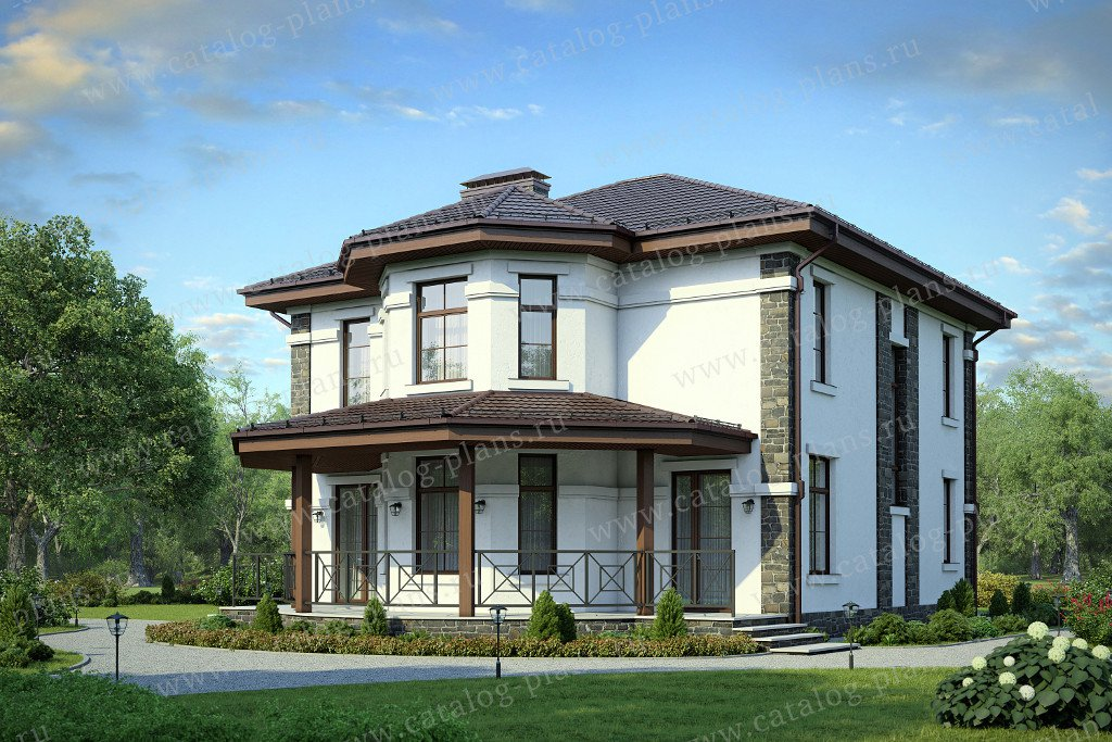 Проект жилой дом #57-02A материал - газобетон, стиль современный