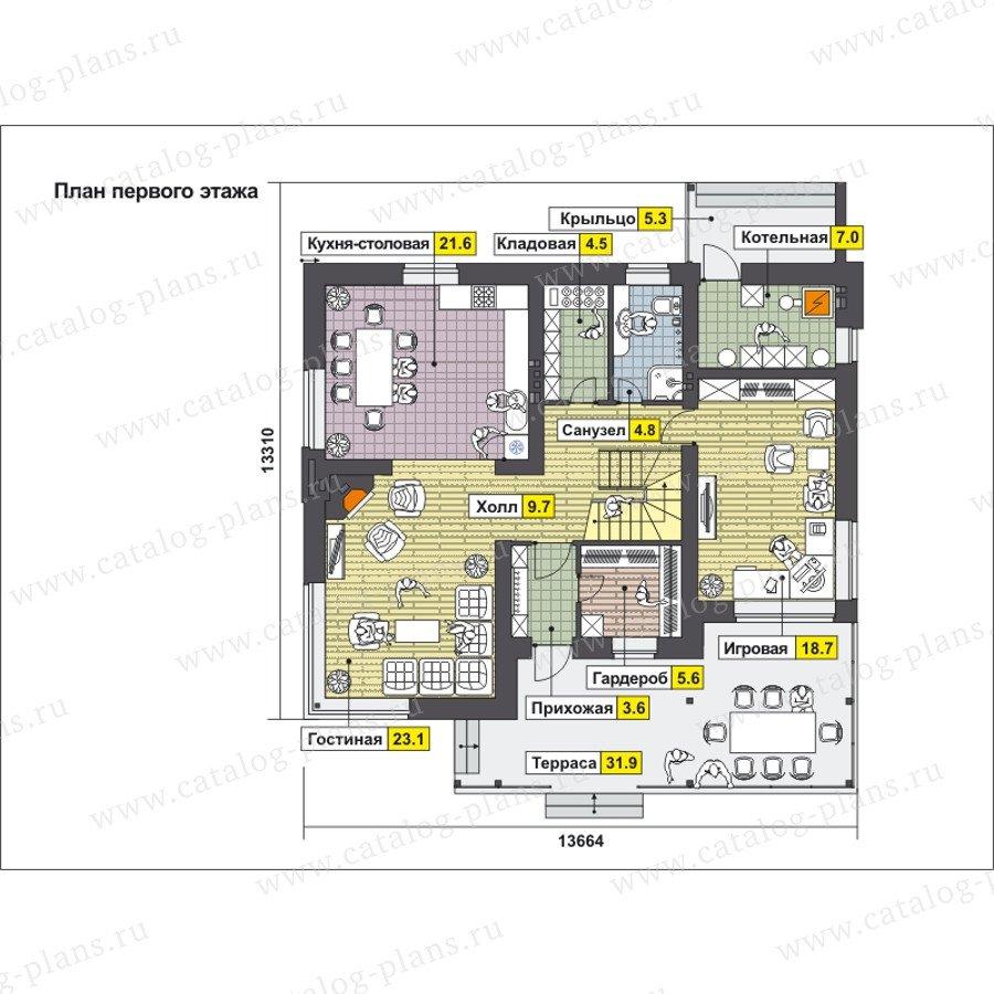 План 1-этажа проекта 59-24C