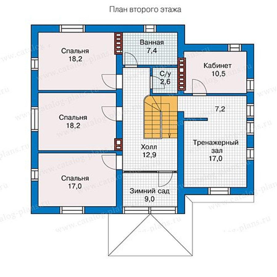 План 2-этажа проекта 57-22L