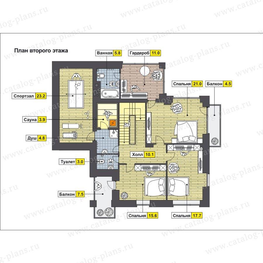 План 3-этажа проекта 49-88B