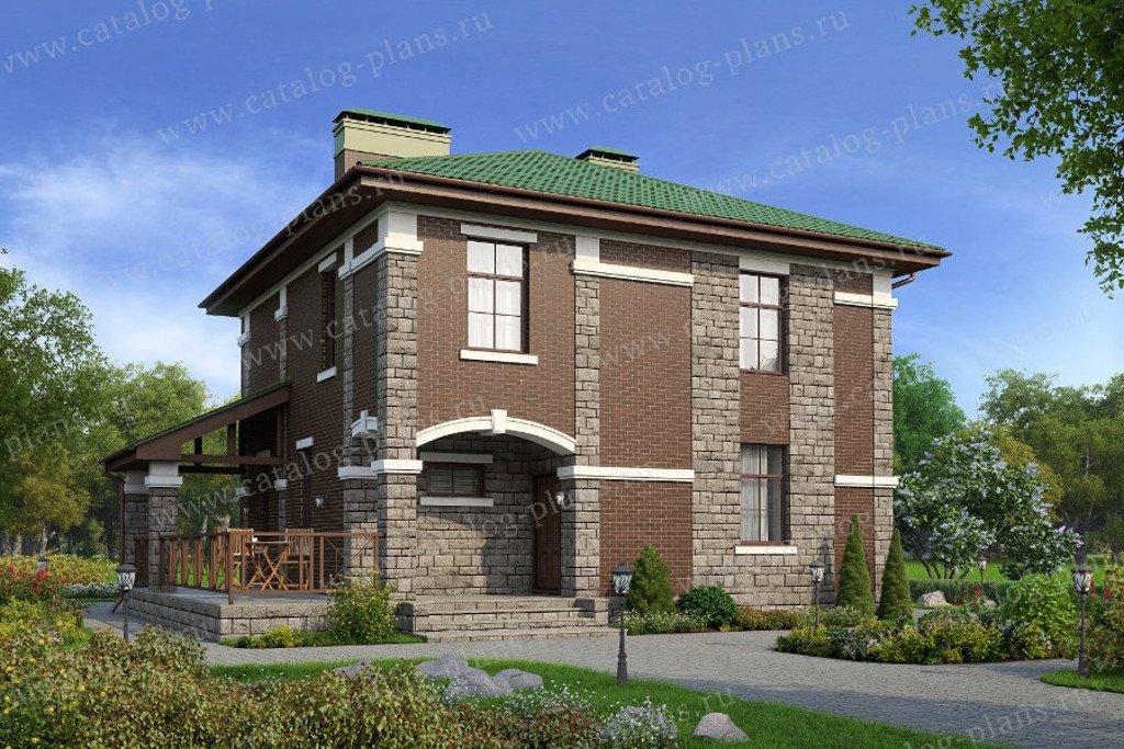 Проект жилой дом #57-02L материал - газобетон, стиль европейский