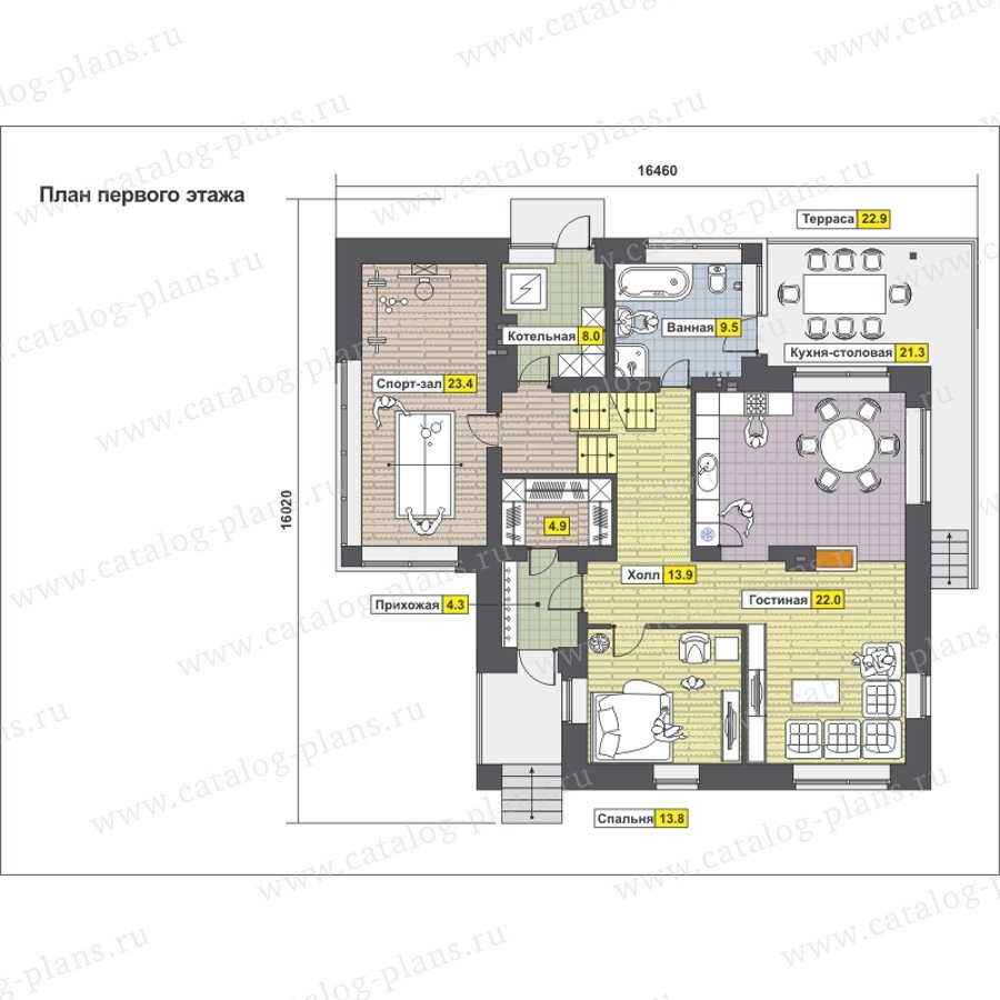 План 1-этажа проекта 49-88A