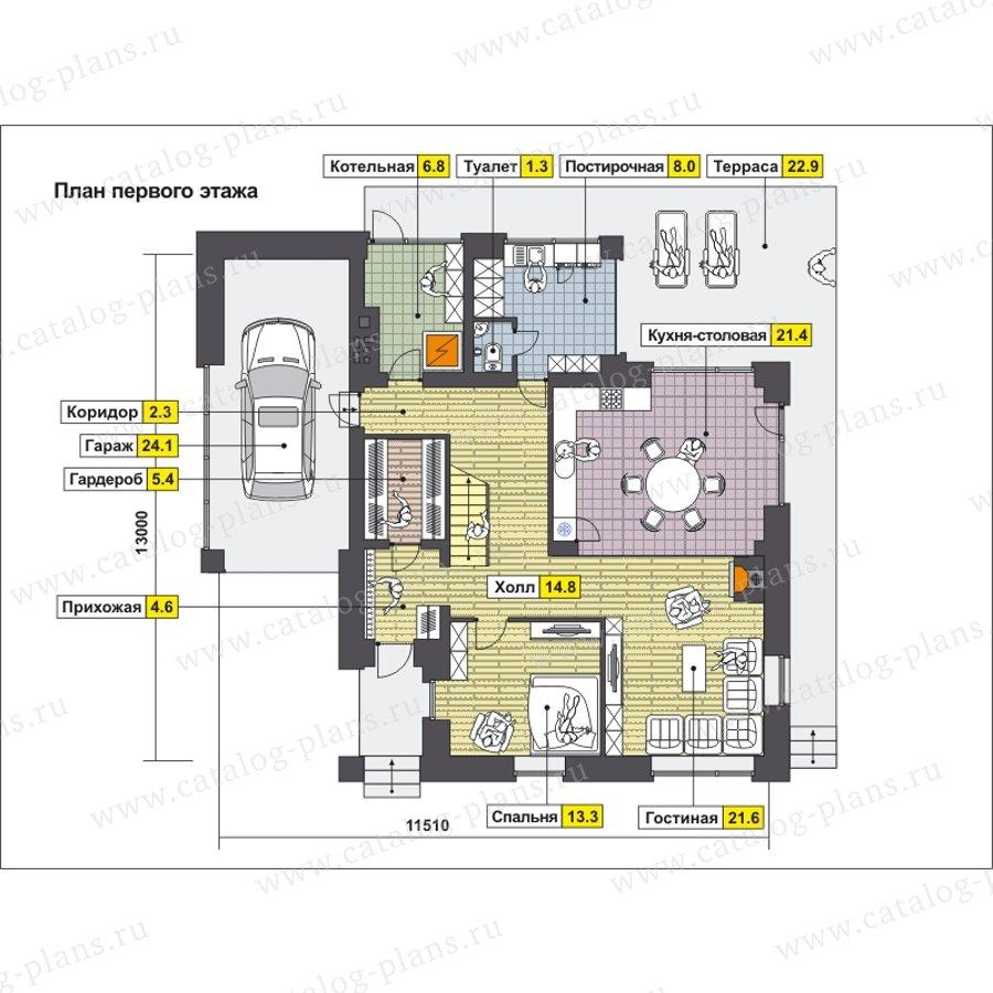 План 2-этажа проекта 49-88B
