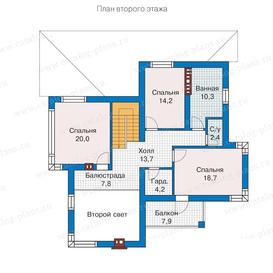 План 2-этажа проекта 57-21K