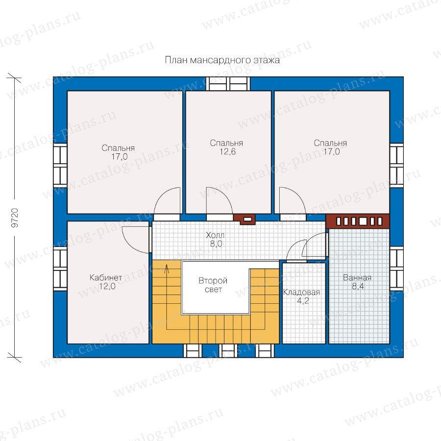 План 2-этажа проекта 49-99