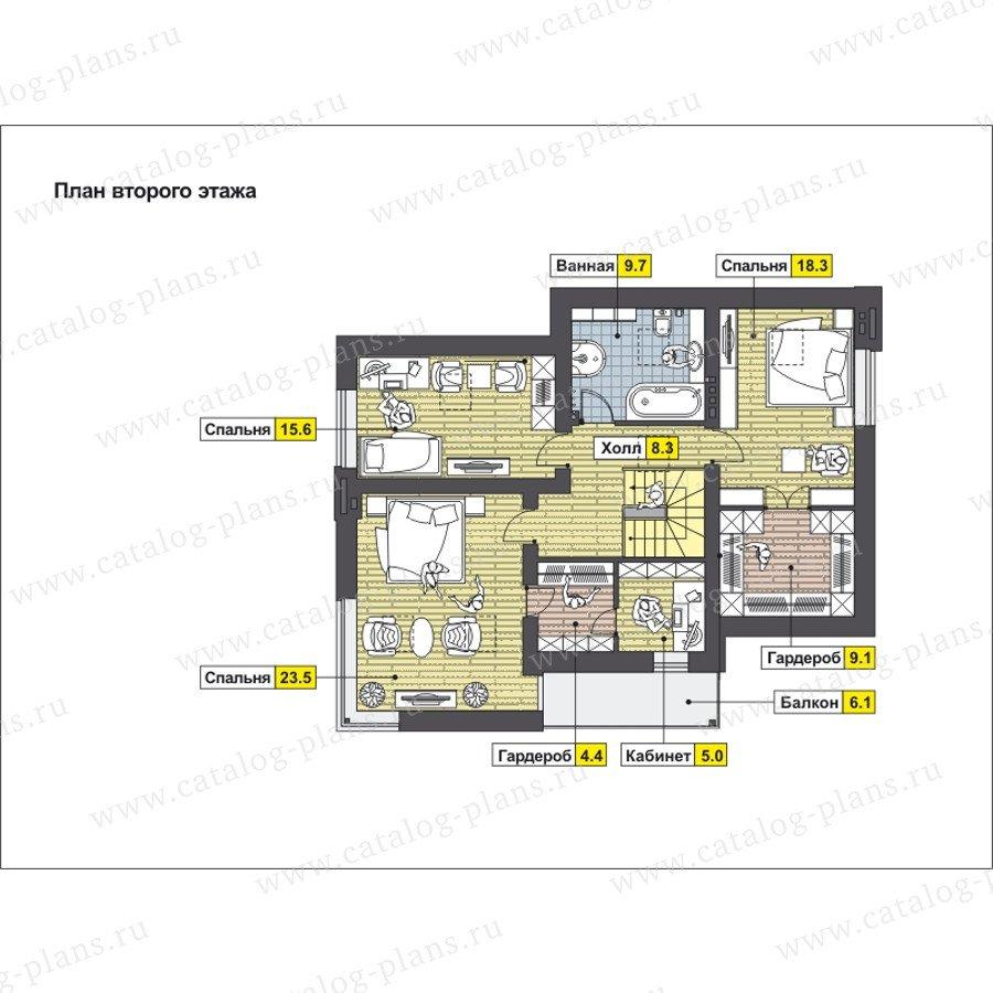 План 2-этажа проекта 59-24BK