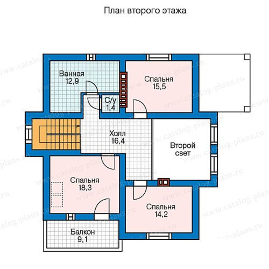 План 2-этажа проекта 57-00AL