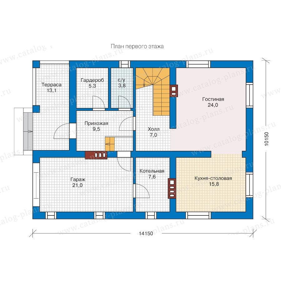 План 1-этажа проекта 57-09L