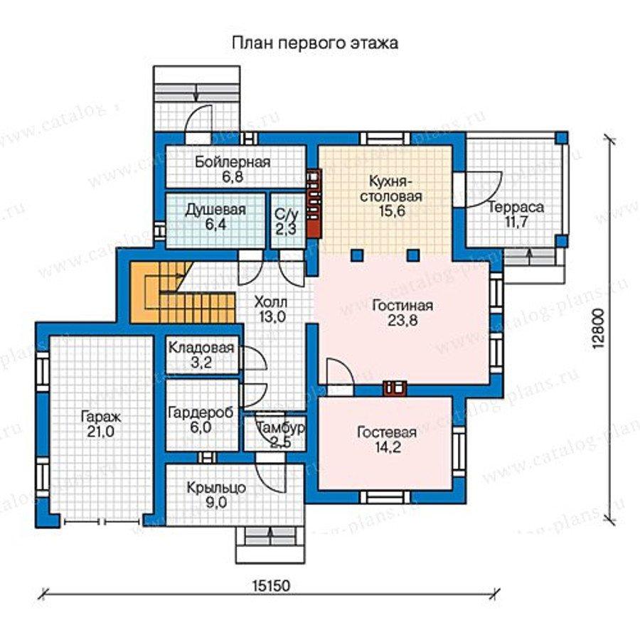 План 1-этажа проекта 57-00AL