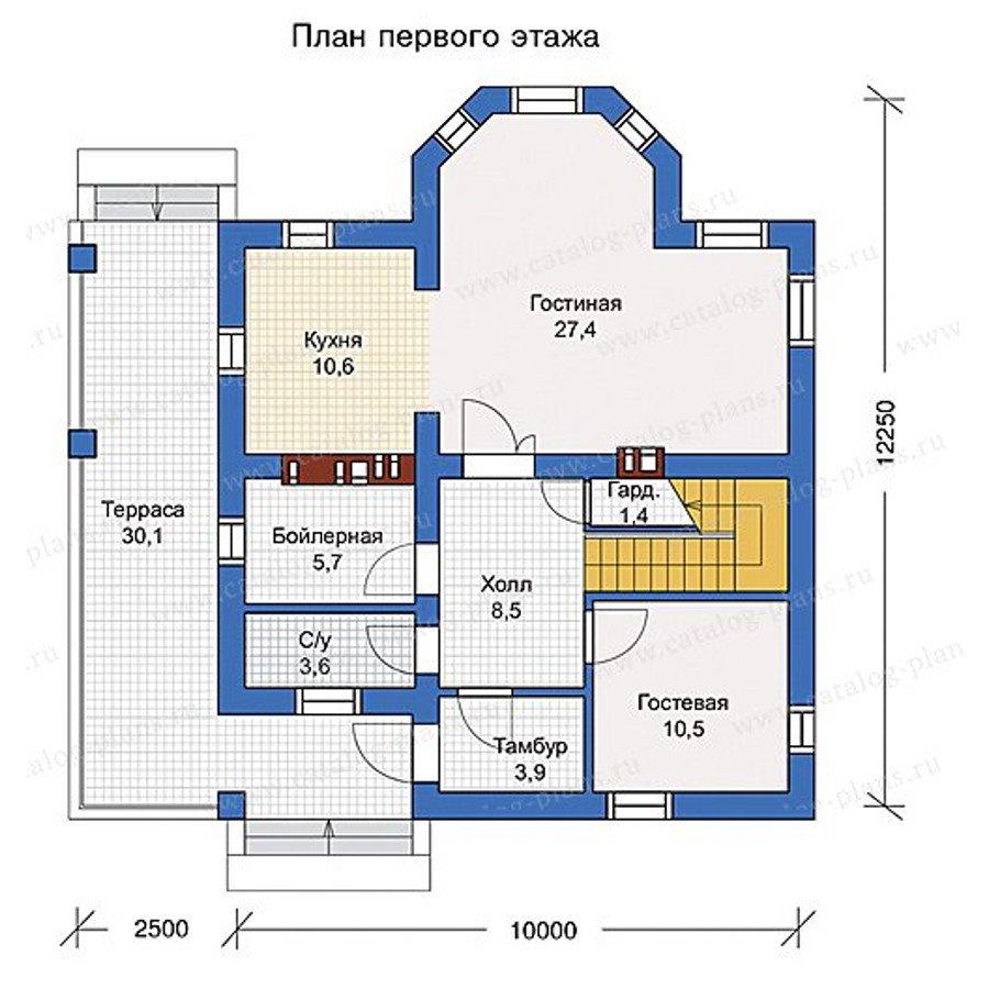 План 1-этажа проекта 57-02L