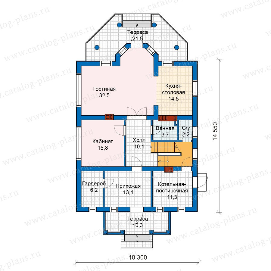 План 1-этажа проекта 57-15A