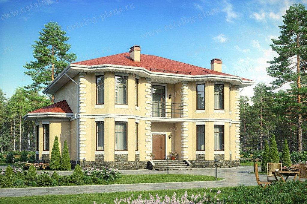 Проект жилой дом #58-05 материал - газобетон, стиль европейский