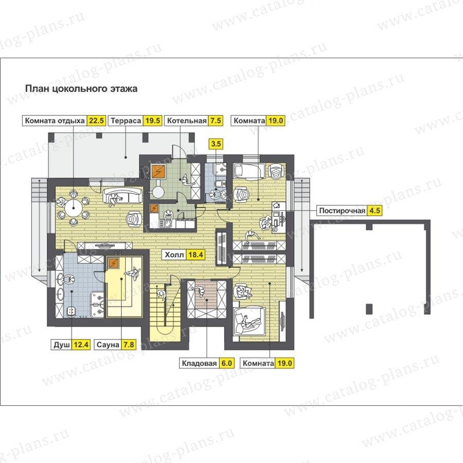 План 1-этажа проекта 59-25EK