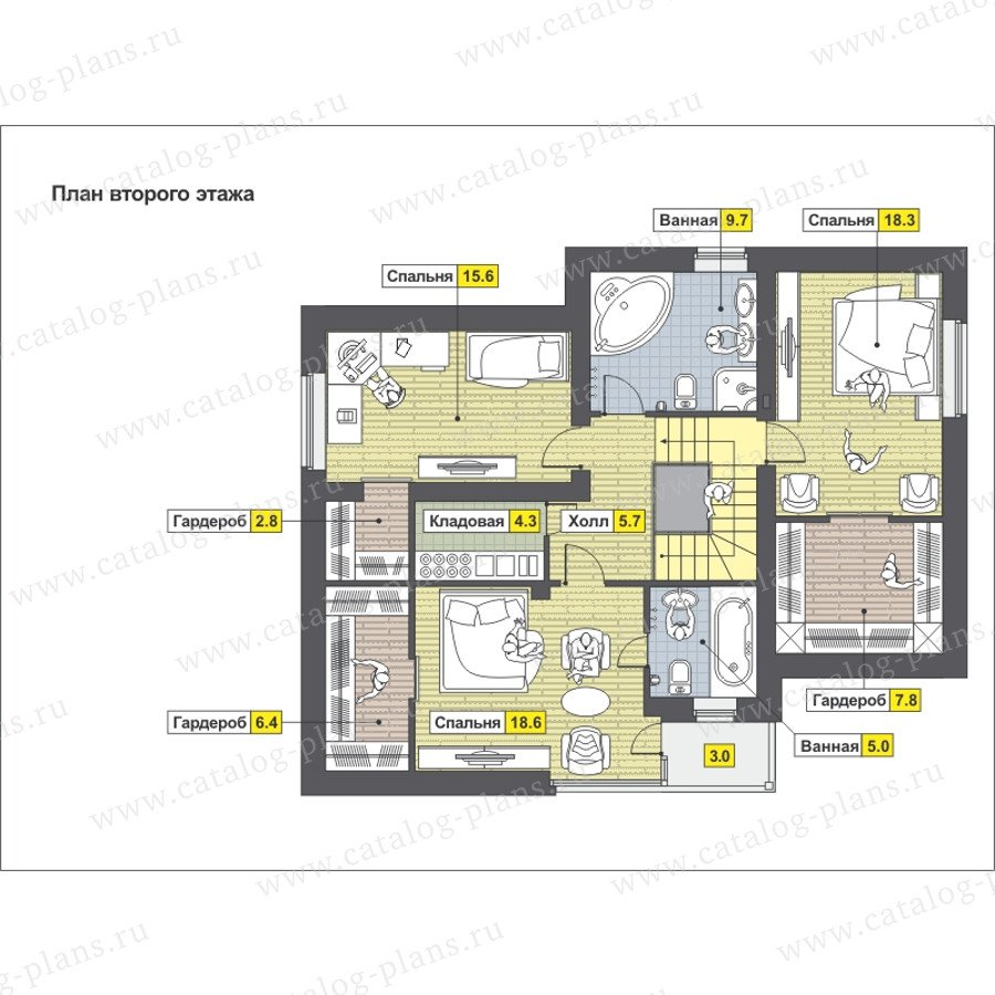 План 2-этажа проекта 59-24P