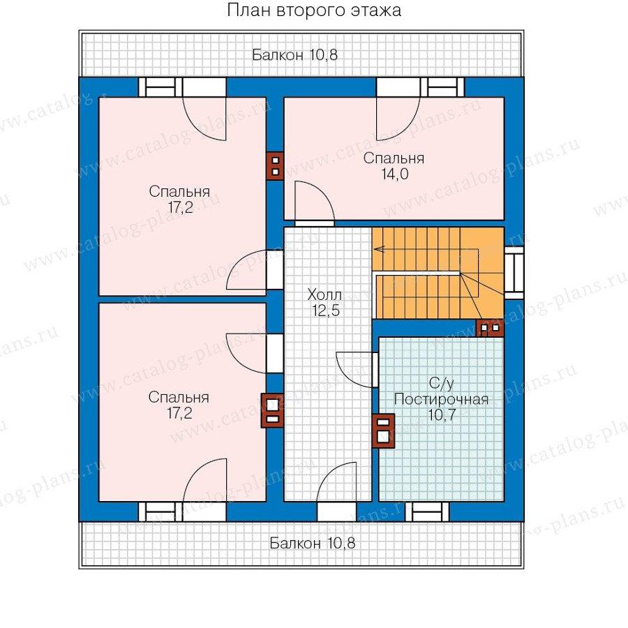 План 2-этажа проекта 58-13
