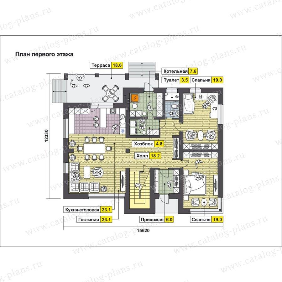 План 1-этажа проекта 59-25B
