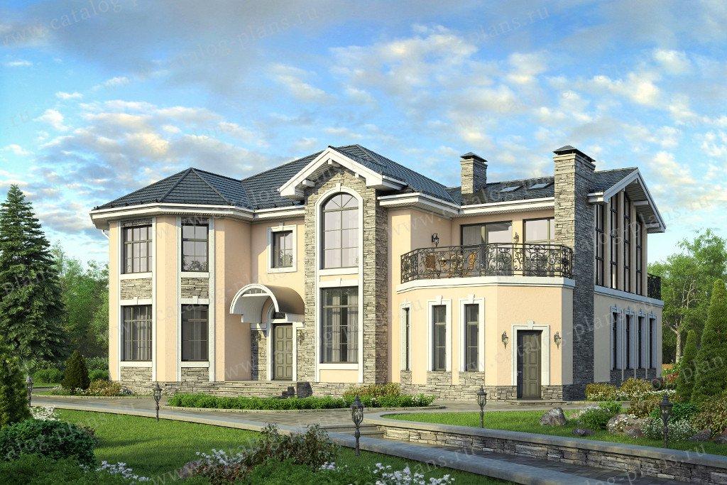 Проект жилой дом #58-06K материал - кирпич, стиль европейский