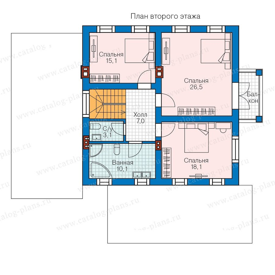 План 2-этажа проекта 58-18