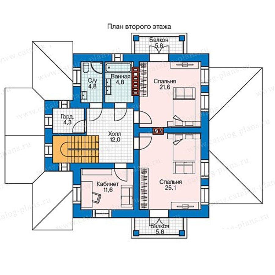 План 2-этажа проекта 58-12L