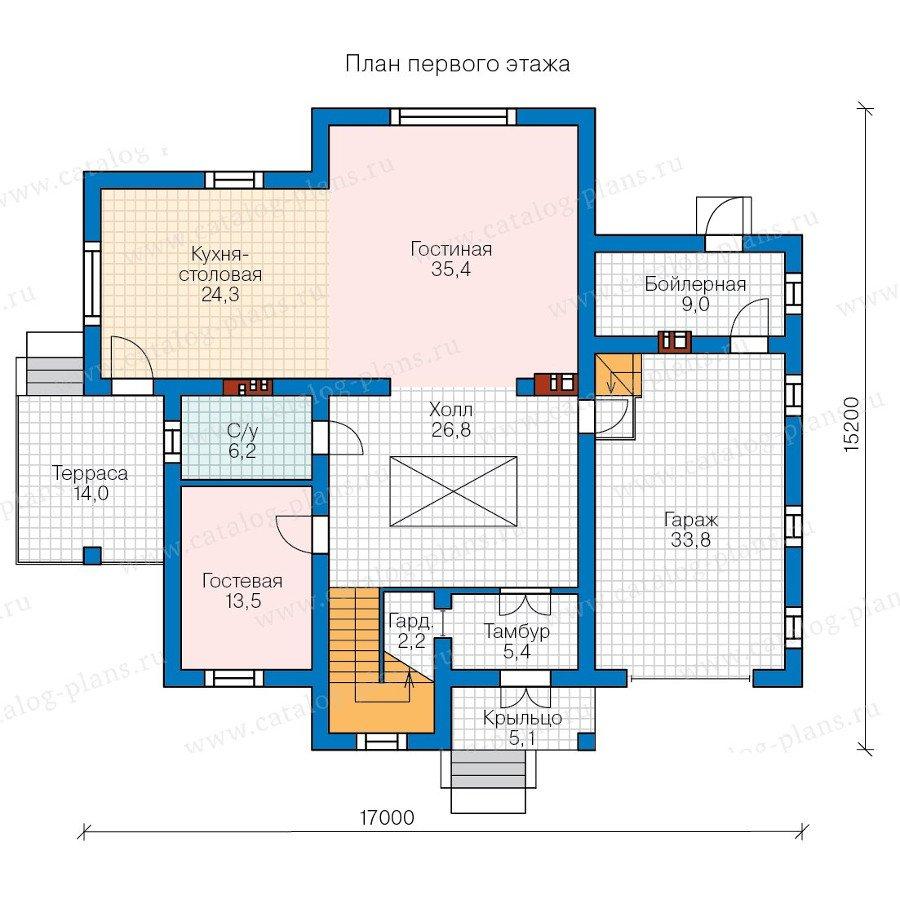 План 1-этажа проекта 58-08K